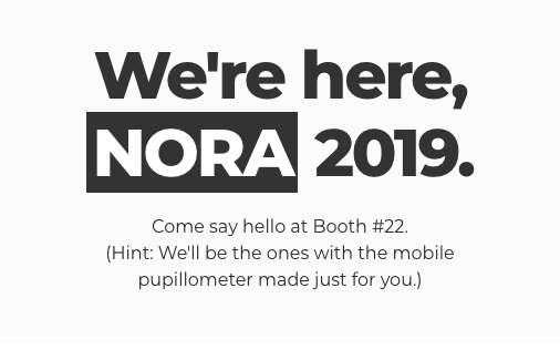 We're here, NORA 2019